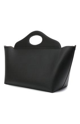 Женская сумка pocket medium BURBERRY черного цвета, арт. 8039049 | Фото 2 (Размер: large, medium; Материал: Натуральная кожа; Сумки-технические: Сумки top-handle; Ошибки технического описания: Нет ширины)