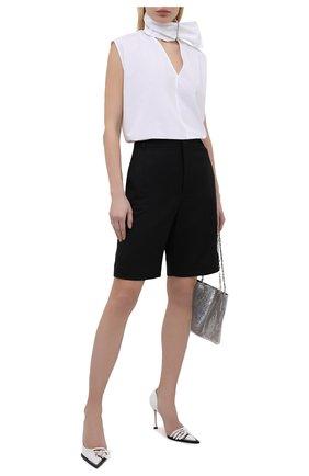 Женские кожаные туфли N21 белого цвета, арт. 21ECS0NV11102/PUMP | Фото 2