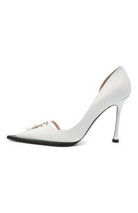 Женские кожаные туфли N21 белого цвета, арт. 21ECS0NV11102/PUMP | Фото 3
