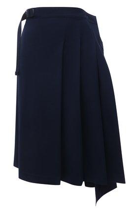 Женская шерстяная юбка Y-3 темно-синего цвета, арт. GV2781/W | Фото 1