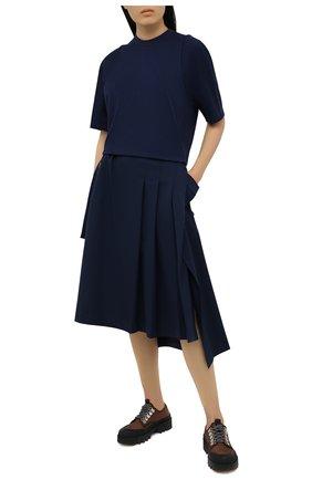Женская шерстяная юбка Y-3 темно-синего цвета, арт. GV2781/W | Фото 2