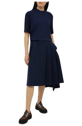 Женская хлопковая футболка Y-3 темно-синего цвета, арт. GV0317/W | Фото 2