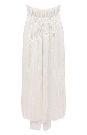 Женская хлопковая юбка Y-3 белого цвета, арт. GT5288/W | Фото 1