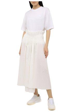 Женская хлопковая юбка Y-3 белого цвета, арт. GT5288/W | Фото 2