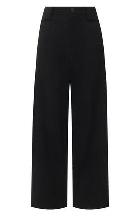 Женские шерстяные брюки YOHJI YAMAMOTO черного цвета, арт. FD-P18-100 | Фото 1