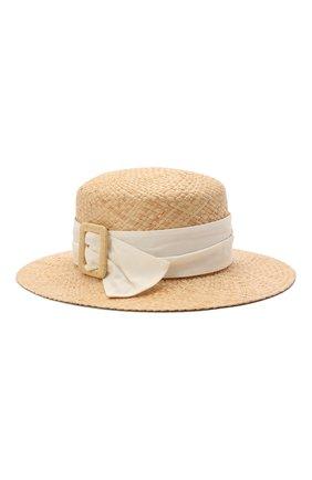 Женская шляпа new kendall MAISON MICHEL светло-бежевого цвета, арт. 1064043001/NEW KENDALL | Фото 1