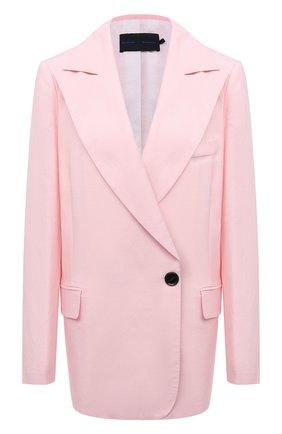 Женский жакет из вискозы и льна PROENZA SCHOULER розового цвета, арт. R2122002-AY133 | Фото 1