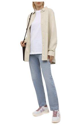 Женские кожаные кроссовки h562 HOGAN белого цвета, арт. HXW5640DN60PK4   Фото 2