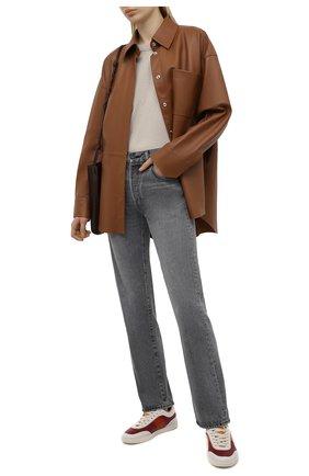 Женские кожаные кеды TOD'S красного цвета, арт. XXW68C0DP30P05 | Фото 2