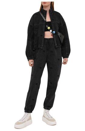 Женские джинсы DENIM X ALEXANDER WANG темно-серого цвета, арт. 4DC2214933   Фото 2