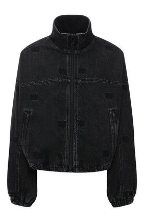 Женская джинсовая куртка DENIM X ALEXANDER WANG темно-серого цвета, арт. 4DC2212912 | Фото 1