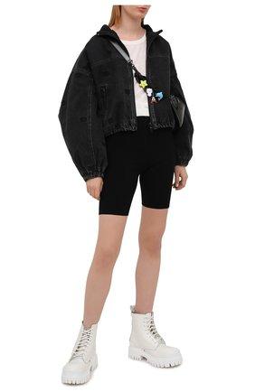 Женская джинсовая куртка DENIM X ALEXANDER WANG темно-серого цвета, арт. 4DC2212912 | Фото 2