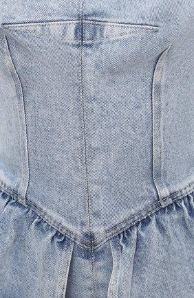 Женский джинсовый топ ISABEL MARANT голубого цвета, арт. HT2122-21E019I/D0LIZINA | Фото 5