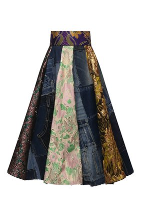 Женская юбка DOLCE & GABBANA разноцветного цвета, арт. F4B2PD/GDY73 | Фото 1