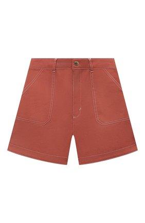 Детские хлопковые шорты CHLOÉ коричневого цвета, арт. C14657 | Фото 1