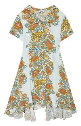 Детское платье из вискозы LANVIN разноцветного цвета, арт. N12019 | Фото 1