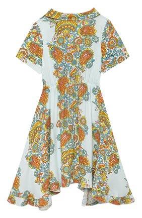 Детское платье из вискозы LANVIN разноцветного цвета, арт. N12019 | Фото 2
