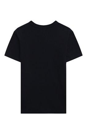 Детская хлопковая футболка LANVIN синего цвета, арт. N25029   Фото 2