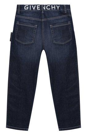 Детские джинсы GIVENCHY голубого цвета, арт. H14127 | Фото 2 (Материал внешний: Хлопок; Кросс-КТ: джинсы; Ростовка одежда: 10 - 11 лет | 140 - 146см, 12 лет | 152 см, 5 лет | 110 см, 6 лет | 116 см, 8 лет | 128 см)