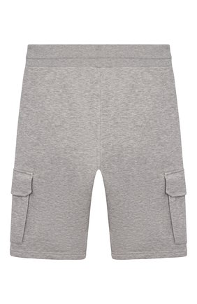 Детские хлопковые шорты GIVENCHY серого цвета, арт. H24121   Фото 2