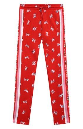 Детские брюки из вискозы MARC JACOBS (THE) красного цвета, арт. W14262   Фото 1 (Девочки Кросс-КТ: Брюки-одежда; Материал внешний: Вискоза; Ростовка одежда: 9 лет   134 см, 12 лет   152 см, 3 года   98 см, 5 лет   110 см, 7 лет   122 см)