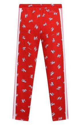 Детские брюки из вискозы MARC JACOBS (THE) красного цвета, арт. W14262   Фото 2 (Девочки Кросс-КТ: Брюки-одежда; Материал внешний: Вискоза; Ростовка одежда: 9 лет   134 см, 12 лет   152 см, 3 года   98 см, 5 лет   110 см, 7 лет   122 см)