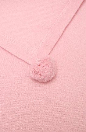 Детского кашемировый плед LES LUTINS PARIS розового цвета, арт. 21E080/CLEMENTINE | Фото 2