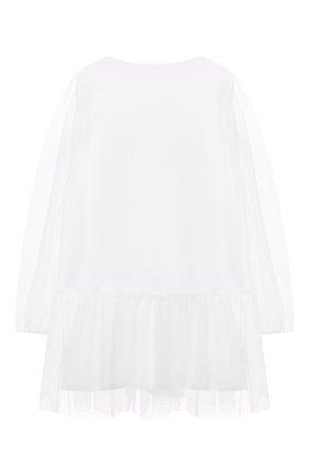 Детское платье DOUUOD белого цвета, арт. 21E/U/JR/AB05/3710/3A-8A | Фото 2