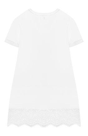 Детское хлопковое платье ERMANNO SCERVINO белого цвета, арт. ESFAB024 JE95 WSUNI1/XXS-S | Фото 2