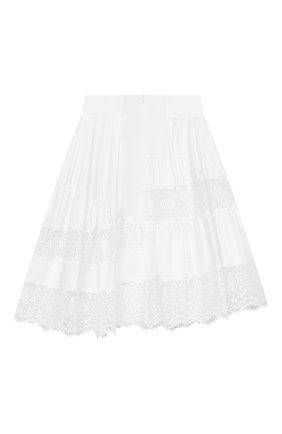 Детская хлопковая юбка ERMANNO SCERVINO белого цвета, арт. ESFG0007 CA01 WSUNI1/M-XL | Фото 2