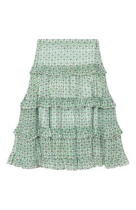 Детская юбка из вискозы ERMANNO SCERVINO зеленого цвета, арт. ESFG0011 GAS03 WS005/M-XL | Фото 1