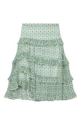 Детская юбка из вискозы ERMANNO SCERVINO зеленого цвета, арт. ESFG0011 GAS03 WS005/M-XL | Фото 2