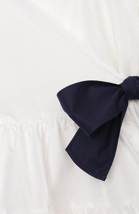 Детское хлопковое платье IL GUFO белого цвета, арт. P21VM619C0046/2A-4A   Фото 3