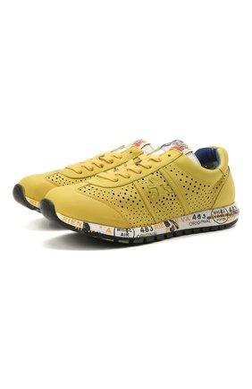 Детские кожаные кроссовки PREMIATA WILL BE желтого цвета, арт. LUCY/12-11432/JUN | Фото 1