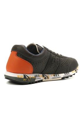 Детские кожаные кроссовки PREMIATA WILL BE серого цвета, арт. LUCY/12-11462/JUN   Фото 3 (Материал внутренний: Натуральная кожа)