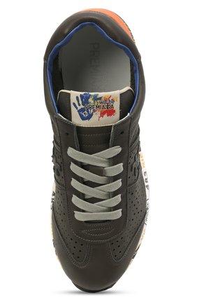 Детские кожаные кроссовки PREMIATA WILL BE серого цвета, арт. LUCY/12-11462/JUN   Фото 4 (Материал внутренний: Натуральная кожа)