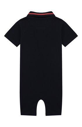 Детское хлопковый комбинезон MONCLER темно-синего цвета, арт. G1-951-8L705-20-8496F | Фото 2
