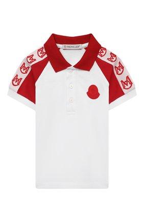 Детский хлопковое поло MONCLER красного цвета, арт. G1-951-8A705-20-8496F | Фото 1
