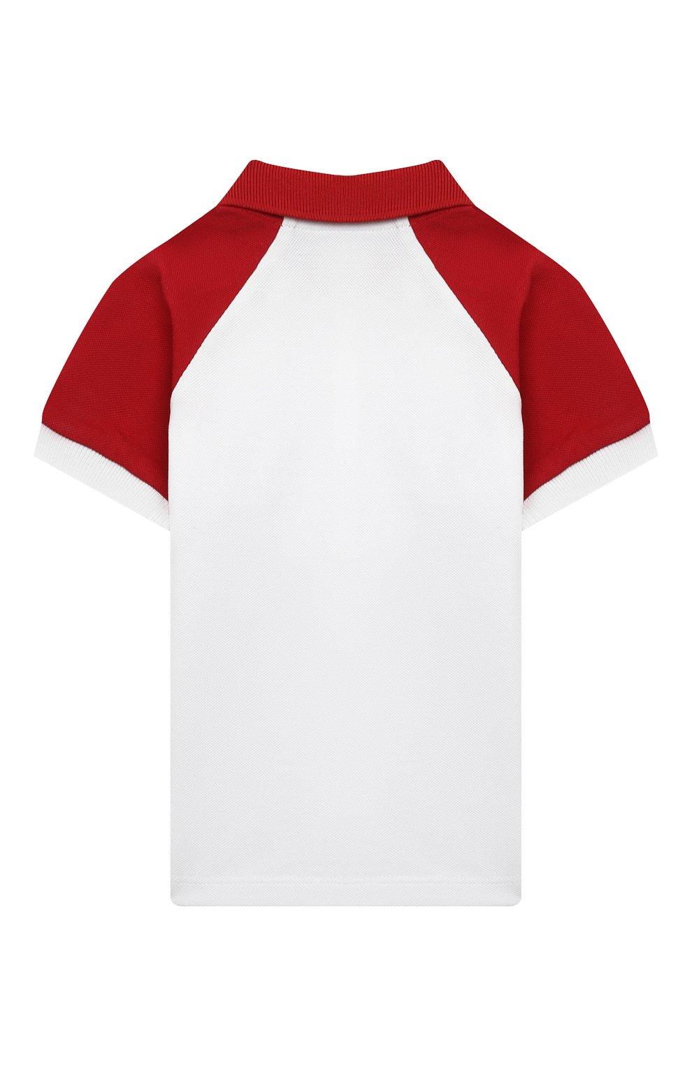 Детский хлопковое поло MONCLER красного цвета, арт. G1-951-8A705-20-8496F   Фото 2