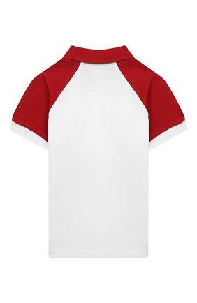 Детский хлопковое поло MONCLER красного цвета, арт. G1-951-8A705-20-8496F | Фото 2