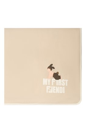 Детского хлопковое одеяло FENDI бежевого цвета, арт. BUJ162/ST8 | Фото 2