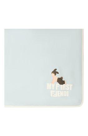 Детского хлопковое одеяло FENDI голубого цвета, арт. BUJ162/ST8 | Фото 2