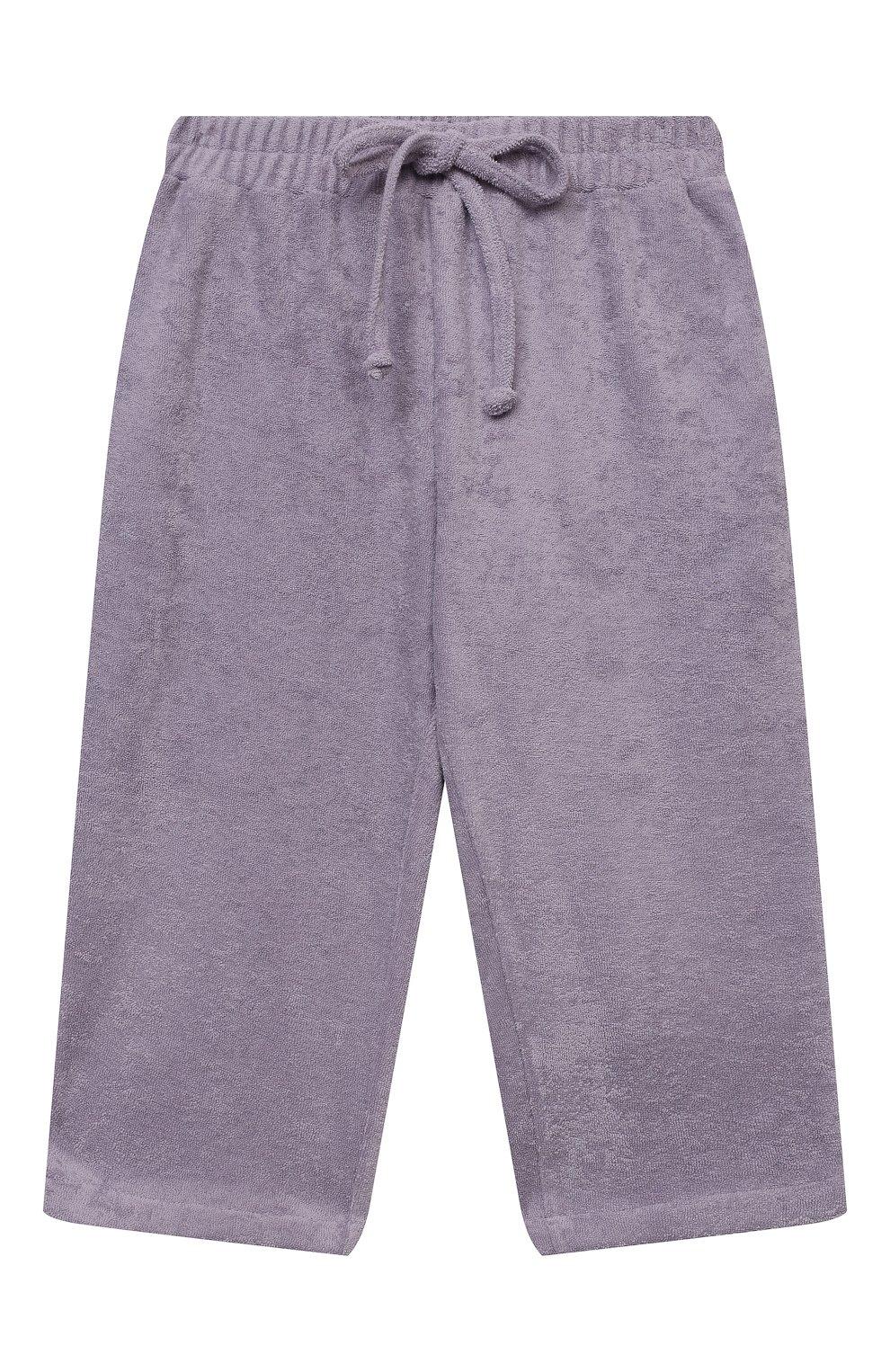 Детские хлопковые брюки PAADE MODE сиреневого цвета, арт. 21218543/4Y-8Y   Фото 1 (Девочки Кросс-КТ: Брюки-одежда; Материал внешний: Хлопок; Ростовка одежда: 4 года   104 см, 6 лет   116 см, 8 лет   128 см)