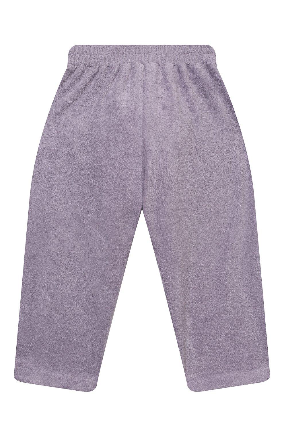 Детские хлопковые брюки PAADE MODE сиреневого цвета, арт. 21218543/4Y-8Y   Фото 2 (Девочки Кросс-КТ: Брюки-одежда; Материал внешний: Хлопок; Ростовка одежда: 4 года   104 см, 6 лет   116 см, 8 лет   128 см)
