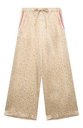 Детские шелковые брюки PAADE MODE желтого цвета, арт. 21218052/10Y-14Y | Фото 1