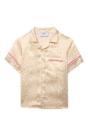 Детское шелковая блузка PAADE MODE желтого цвета, арт. 21214612/4Y-8Y   Фото 1