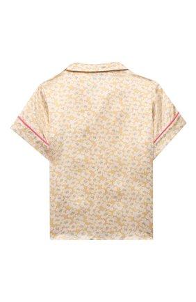 Детское шелковая блузка PAADE MODE желтого цвета, арт. 21214612/4Y-8Y   Фото 2