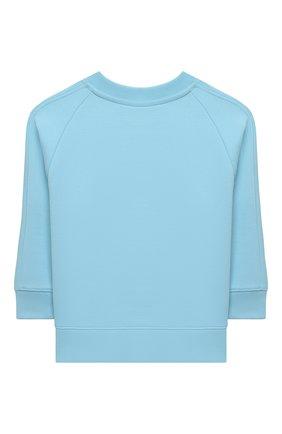 Детский хлопковый свитшот BURBERRY голубого цвета, арт. 8038462 | Фото 2
