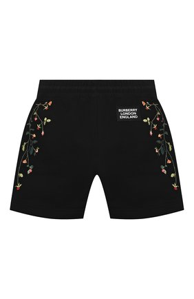 Детские хлопковые шорты BURBERRY черного цвета, арт. 8038443 | Фото 2