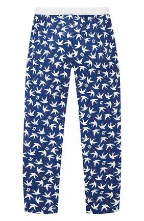Детские брюки из вискозы SONIA RYKIEL ENFANT голубого цвета, арт. 21S1PA03   Фото 2